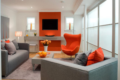 orange and red living room design enterijer uređenje enterijera 24644